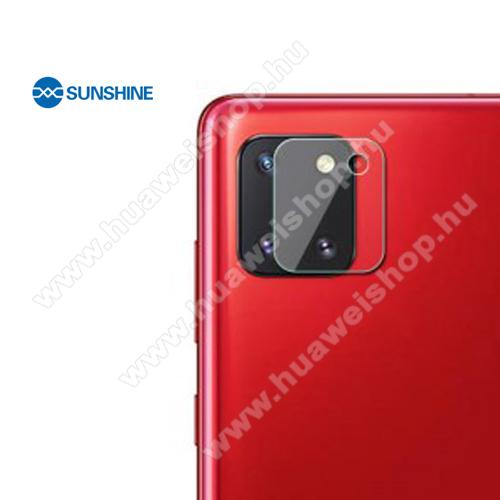 SUNSHINE Hydrogel TPU kameravédő fólia - Ultra Clear, ÖNREGENERÁLÓ! - 1db - SAMSUNG Galaxy Note10 Lite (SM-N770F) - GYÁRI