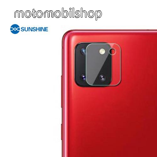 SUNSHINE Hydrogel TPU kameravédő fólia - Ultra Clear - 1db - SAMSUNG Galaxy Note10 Lite (SM-N770F) - GYÁRI