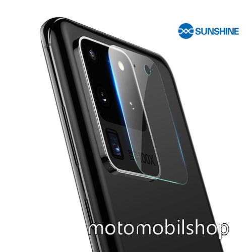 SUNSHINE Hydrogel TPU kameravédő fólia - Ultra Clear - 1db - SAMSUNG Galaxy S20 Ultra (SM-G988F) / SAMSUNG Galaxy S20 Ultra 5G (SM-G988) - GYÁRI