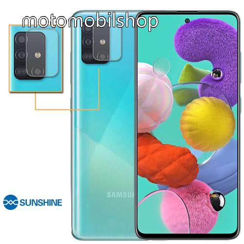SUNSHINE Hydrogel TPU kameravédő fólia - Ultra Clear, ÖNREGENERÁLÓ! - 1db - SAMSUNG Galaxy A51 (SM-A515F) / SAMSUNG Galaxy A51 5G (SM-A516F) - GYÁRI