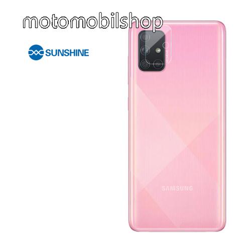 SUNSHINE Hydrogel TPU kameravédő fólia - Ultra Clear - 1db - SAMSUNG Galaxy A71 (SM-A715F) / SAMSUNG Galaxy A71 5G (SM-A716F) / SAMSUNG Galaxy A Quantum - GYÁRI