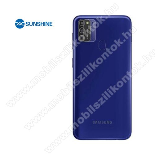 SUNSHINE Hydrogel TPU kameravédő fólia - Ultra Clear, ÖNREGENERÁLÓ! - 1db - SAMSUNG Galaxy M21 (SM-M215F/DSN) - GYÁRI