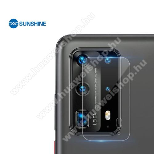 SUNSHINE Hydrogel TPU kameravédő fólia - Ultra Clear, ÖNREGENERÁLÓ! - 1db - HUAWEI P40 Pro Plus 5G - GYÁRI