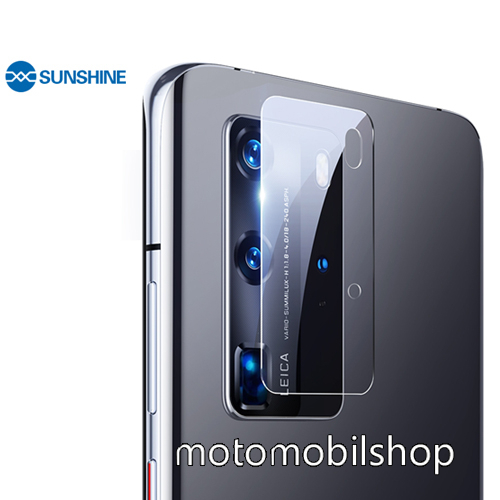 SUNSHINE Hydrogel TPU kameravédő fólia - Ultra Clear - 1db - HUAWEI P40 Pro - GYÁRI