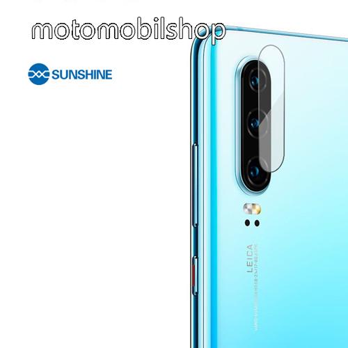 SUNSHINE Hydrogel TPU kameravédő fólia - Ultra Clear, ÖNREGENERÁLÓ! - 1db - HUAWEI P30 - GYÁRI