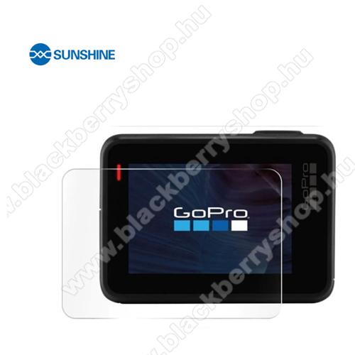 SUNSHINE Hydrogel TPU kameravédő fólia - Ultra Clear, ÖNREGENERÁLÓ! - 1db, a kijelzőt védi - GoPro Hero 7 - GYÁRI