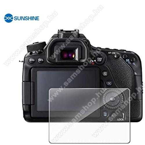 SUNSHINE Hydrogel TPU kameravédő fólia - Ultra Clear, ÖNREGENERÁLÓ! - 1db, a kijelzőt védi - Canon EOS 80D / 70D / 77D / 800D / 9000D - GYÁRI