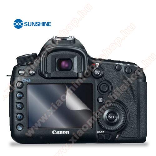 SUNSHINE Hydrogel TPU kameravédő fólia - Ultra Clear, ÖNREGENERÁLÓ! - 1db, a kijelzőt védi - Canon EOS 5D Mark III - GYÁRI