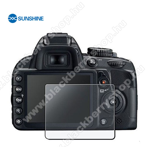 SUNSHINE Hydrogel TPU kameravédő fólia - Ultra Clear, ÖNREGENERÁLÓ! - 1db, a kijelzőt védi - Nikon D3100 / D3200 - GYÁRI