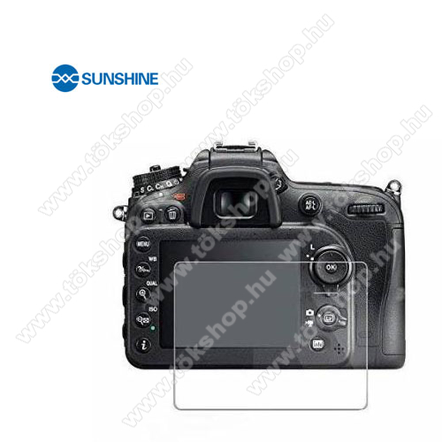 SUNSHINE Hydrogel TPU kameravédő fólia - Ultra Clear, ÖNREGENERÁLÓ! - 1db, a kijelzőt védi - Nikon D3000 - GYÁRI