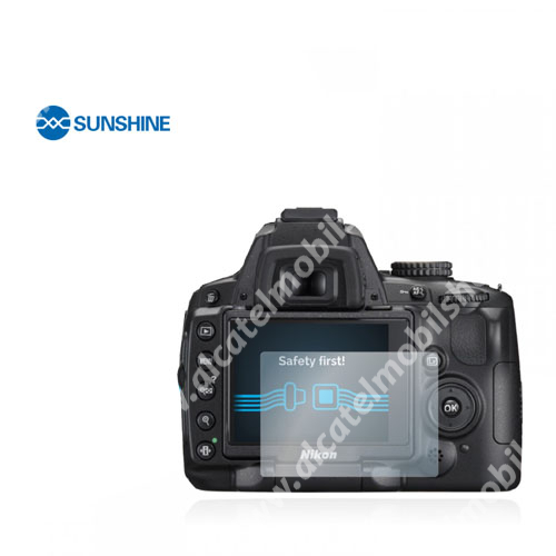 SUNSHINE Hydrogel TPU kameravédő fólia - Ultra Clear - 1db, a kijelzőt védi - Nikon D5000 - GYÁRI