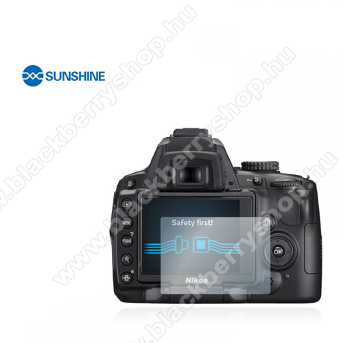 SUNSHINE Hydrogel TPU kameravédő fólia - Ultra Clear, ÖNREGENERÁLÓ! - 1db, a kijelzőt védi - Nikon D5000 - GYÁRI