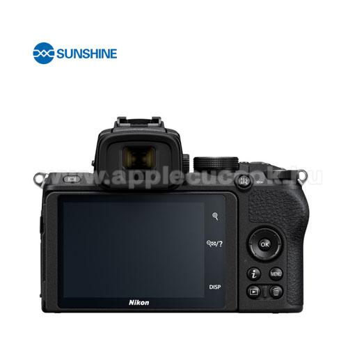 SUNSHINE Hydrogel TPU kameravédő fólia - Ultra Clear, ÖNREGENERÁLÓ! - 1db, a kijelzőt védi - Nikon Z5 - GYÁRI