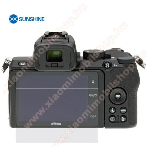 SUNSHINE Hydrogel TPU kameravédő fólia - Ultra Clear, ÖNREGENERÁLÓ! - 1db, a kijelzőt védi - Nikon Z50 - GYÁRI