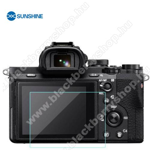 SUNSHINE Hydrogel TPU kameravédő fólia - Ultra Clear, ÖNREGENERÁLÓ! - 1db, a kijelzőt védi - Sony Alpha 7 III / Alpha 7 II / Alpha 7 / Alpha 9 / Alpha 9 II / RX10 / RX100  - GYÁRI
