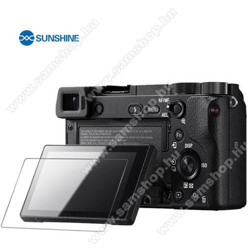SUNSHINE Hydrogel TPU kameravédő fólia - Ultra Clear, ÖNREGENERÁLÓ! - 1db, a kijelzőt védi - Sony Alpha 6600 / Alpha 6100 - GYÁRI