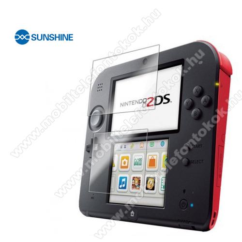 SUNSHINE Hydrogel TPU képernyővédő fólia - Ultra Clear, ÖNREGENERÁLÓ! - 2db - Nintendo 2DS - GYÁRI