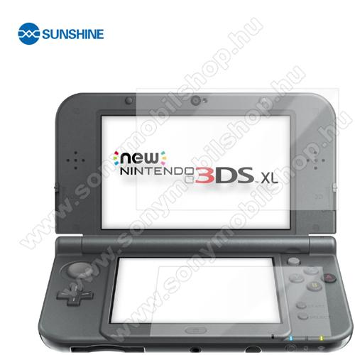 SUNSHINE Hydrogel TPU képernyővédő fólia - Ultra Clear, ÖNREGENERÁLÓ! - 2db - Nintendo New 3DS - GYÁRI