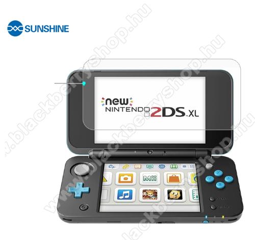 SUNSHINE Hydrogel TPU képernyővédő fólia, a nagyobbik kijelzőre - Ultra Clear, ÖNREGENERÁLÓ! - 1db - Nintendo 2DS XL - GYÁRI