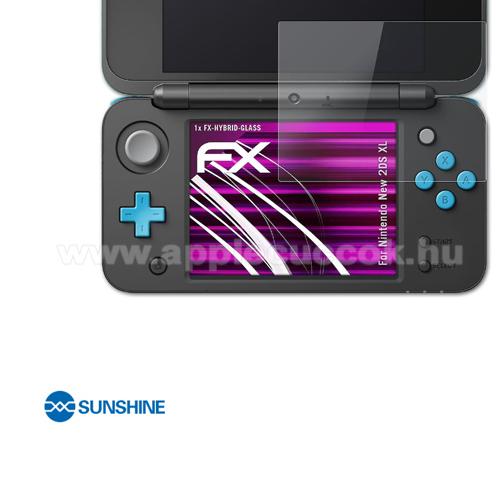 SUNSHINE Hydrogel TPU képernyővédő fólia, a kisebbik kijelzőre - Ultra Clear, ÖNREGENERÁLÓ! - 1db - Nintendo 2DS XL - GYÁRI