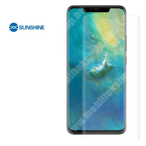 SUNSHINE Hydrogel TPU képernyővédő fólia - Ultra Clear - 1db, a teljes képernyőt védi - HUAWEI Mate 20 Pro - GYÁRI