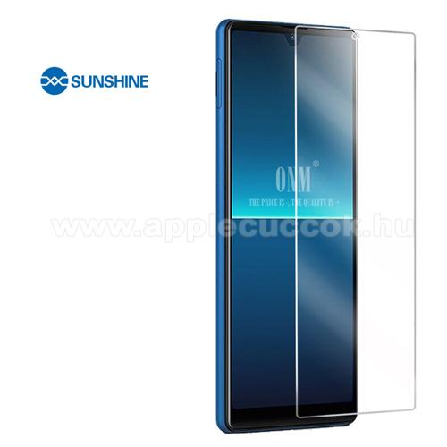 SUNSHINE Hydrogel TPU képernyővédő fólia - Ultra Clear, ÖNREGENERÁLÓ! - 1db, a teljes képernyőt védi - Sony Xperia L4 (2020) - GYÁRI