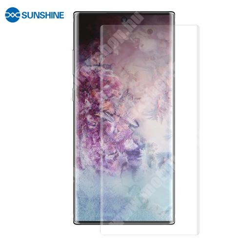 SUNSHINE Hydrogel TPU képernyővédő fólia - Ultra Clear, ÖNREGENERÁLÓ! - 1db, TOKBARÁT - Samsung Galaxy Note10+ (SM-N975F) / Samsung Galaxy Note10+ 5G (SM-N976F) - GYÁRI
