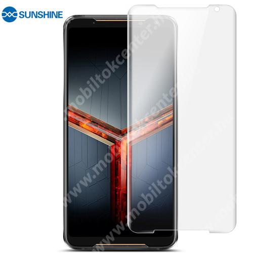 SUNSHINE Hydrogel TPU képernyővédő fólia - Ultra Clear, ÖNREGENERÁLÓ! - 1db, a teljes képernyőt védi - ASUS ROG Phone (ZS600KL) - GYÁRI