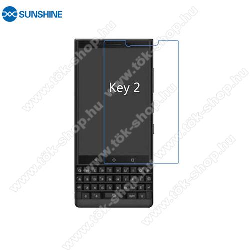 SUNSHINE Hydrogel TPU képernyővédő fólia - Ultra Clear, ÖNREGENERÁLÓ! - 1db, a teljes képernyőt védi - BLACKBERRY Key2 - GYÁRI