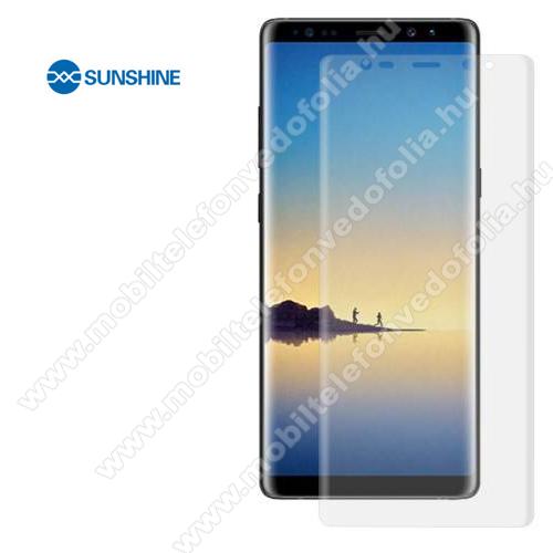 SUNSHINE Hydrogel TPU képernyővédő fólia - Ultra Clear, ÖNREGENERÁLÓ! - 1db, TOKBARÁT - SAMSUNG Galaxy Note8 (SM-N950F) - GYÁRI
