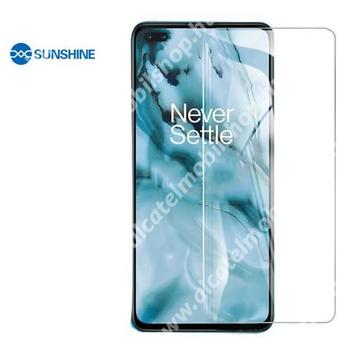 SUNSHINE Hydrogel TPU képernyővédő fólia - Ultra Clear, ÖNREGENERÁLÓ! - 1db, a teljes képernyőt védi - OnePlus Nord - GYÁRI