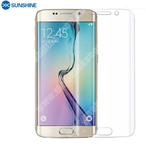 SUNSHINE Hydrogel TPU képernyővédő fólia - Ultra Clear, ÖNREGENERÁLÓ! - 1db, TOKBARÁT - SAMSUNG SM-G935 Galaxy S7 Edge - GYÁRI
