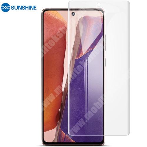 SUNSHINE Hydrogel TPU képernyővédő fólia - Ultra Clear, ÖNREGENERÁLÓ! - 1db, TOKBARÁT - SAMSUNG Galaxy Note20 5G (SM-N981B/DS) - GYÁRI