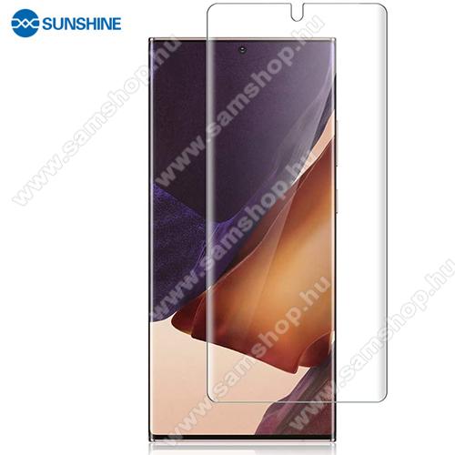 SUNSHINE Hydrogel TPU képernyővédő fólia - Ultra Clear, ÖNREGENERÁLÓ! - 1db, TOKBARÁT - SAMSUNG Galaxy Note20 Ultra (SM-N985F) - GYÁRI