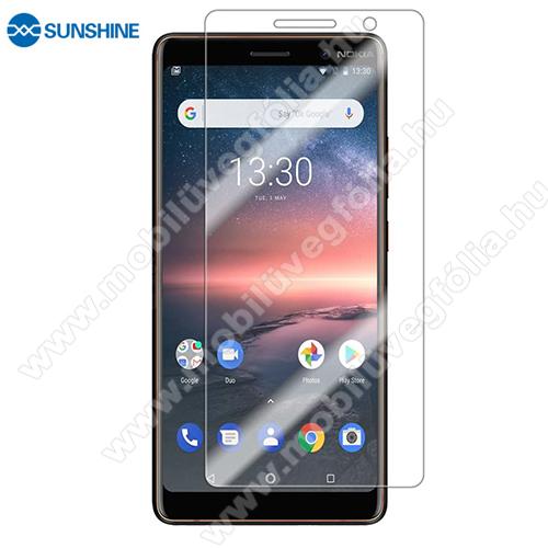 SUNSHINE Hydrogel TPU képernyővédő fólia - Ultra Clear, ÖNREGENERÁLÓ! - 1db, a teljes képernyőt védi - NOKIA 7 plus (2018) - GYÁRI