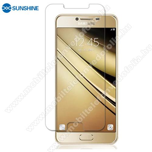 SUNSHINE Hydrogel TPU képernyővédő fólia - Ultra Clear, ÖNREGENERÁLÓ! - 1db, a teljes képernyőt védi - SAMSUNG Galaxy C7 (SM-C7000) - GYÁRI