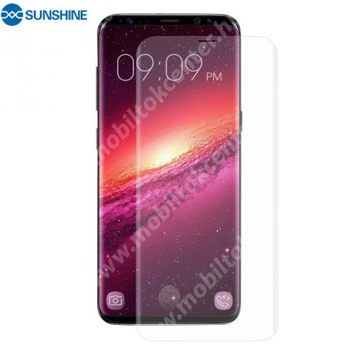 SUNSHINE Hydrogel TPU képernyővédő fólia - Ultra Clear, ÖNREGENERÁLÓ! - 1db, a teljes képernyőt védi - SAMSUNG SM-G960 Galaxy S9 - GYÁRI