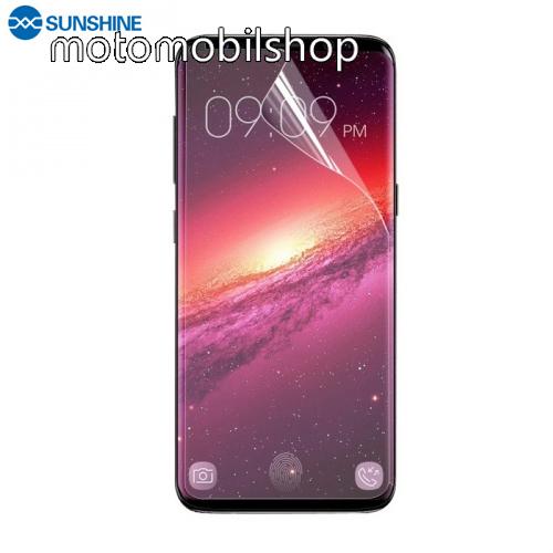 SUNSHINE Hydrogel TPU képernyővédő fólia - Ultra Clear, ÖNREGENERÁLÓ! - 1db, a teljes képernyőt védi - SAMSUNG SM-G965 Galaxy S9+ - GYÁRI
