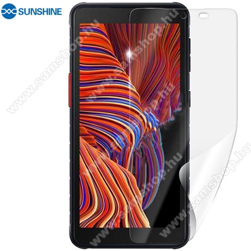 SUNSHINE Hydrogel TPU képernyővédő fólia - Ultra Clear, ÖNREGENERÁLÓ! - 1db, a teljes képernyőt védi - SAMSUNG Galaxy Xcover 5 (SM-G525F) - GYÁRI