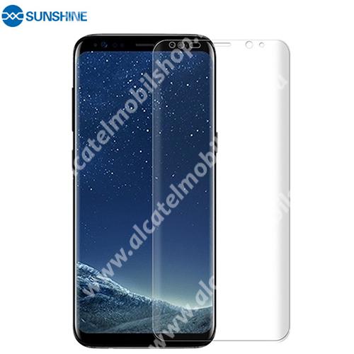 SUNSHINE Hydrogel TPU képernyővédő fólia - Ultra Clear, ÖNREGENERÁLÓ! - 1db, a teljes képernyőt védi - SAMSUNG Galaxy S8 (SM-G950) - GYÁRI