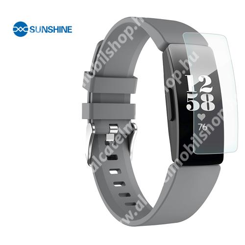 SUNSHINE Hydrogel TPU okosóra képernyővédő fólia - Ultra Clear - 1db, a teljes képernyőt védi - Fitbit Inspire / Fitbit Inspire HR - GYÁRI