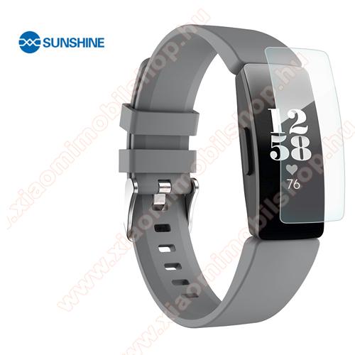SUNSHINE Hydrogel TPU okosóra képernyővédő fólia - Ultra Clear, ÖNREGENERÁLÓ! - 1db, a teljes képernyőt védi - Fitbit Inspire / Fitbit Inspire HR - GYÁRI