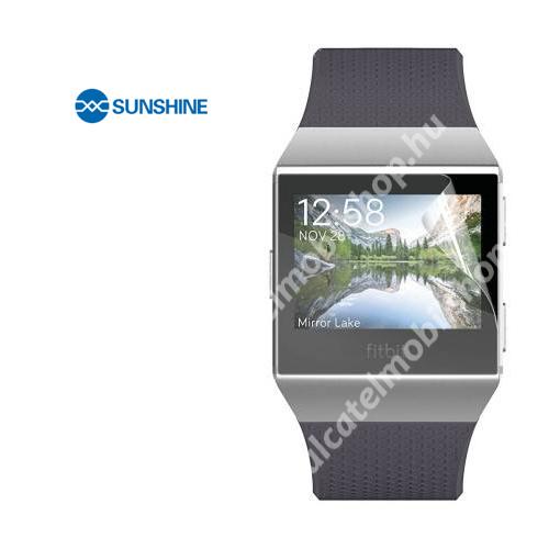 SUNSHINE Hydrogel TPU okosóra képernyővédő fólia - Ultra Clear - 1db, a teljes képernyőt védi - Fitbit Ionic - GYÁRI