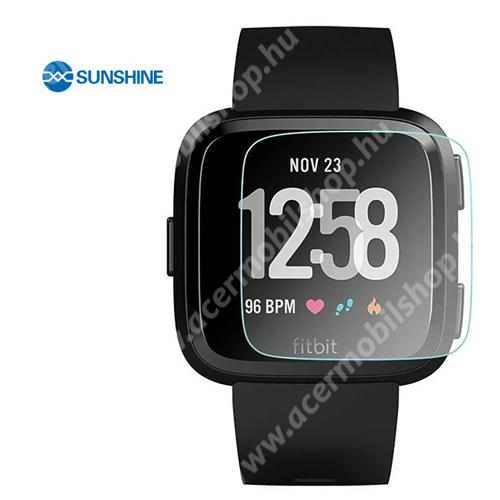 SUNSHINE Hydrogel TPU okosóra képernyővédő fólia - Ultra Clear - 1db, a teljes képernyőt védi - Fitbit Versa / Fitbit Versa Lite - GYÁRI