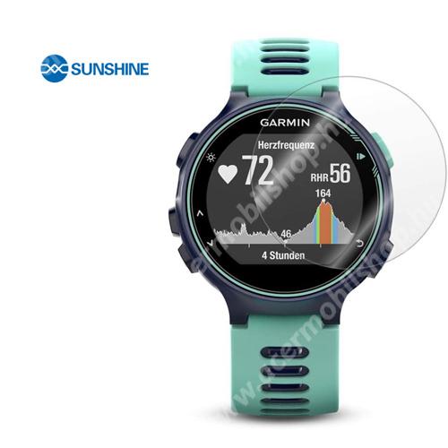 SUNSHINE Hydrogel TPU okosóra képernyővédő fólia - Ultra Clear - 1db, a teljes képernyőt védi - Garmin Forerunner 735XT - GYÁRI