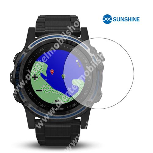 SUNSHINE Hydrogel TPU okosóra képernyővédő fólia - Ultra Clear - 1db, a teljes képernyőt védi - Garmin Descent MK1 - GYÁRI