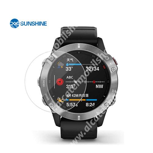 SUNSHINE Hydrogel TPU okosóra képernyővédő fólia - Ultra Clear - 1db, a teljes képernyőt védi - Garmin Fenix 5 Plus - GYÁRI