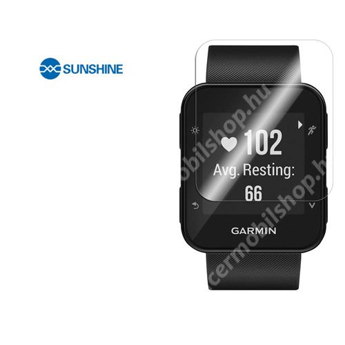 SUNSHINE Hydrogel TPU okosóra képernyővédő fólia - Ultra Clear - 1db, a teljes képernyőt védi - Garmin Forerunner 35 - GYÁRI