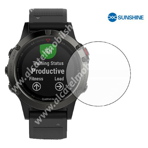 SUNSHINE Hydrogel TPU okosóra képernyővédő fólia - Ultra Clear - 1db, a teljes képernyőt védi - Garmin Fenix 5 - GYÁRI