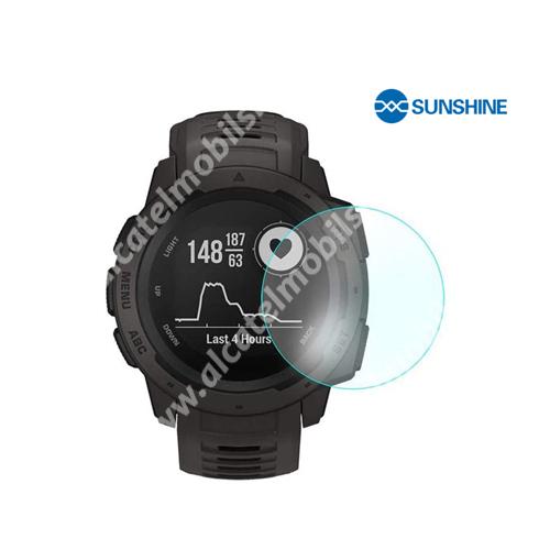 SUNSHINE Hydrogel TPU okosóra képernyővédő fólia - Ultra Clear - 1db, a teljes képernyőt védi - Garmin Instinct - GYÁRI